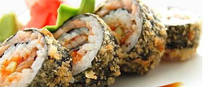 Японские суши-роллы темпура в сакура роллс Тирасполь